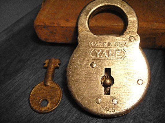 Antique Yale Lock With Key