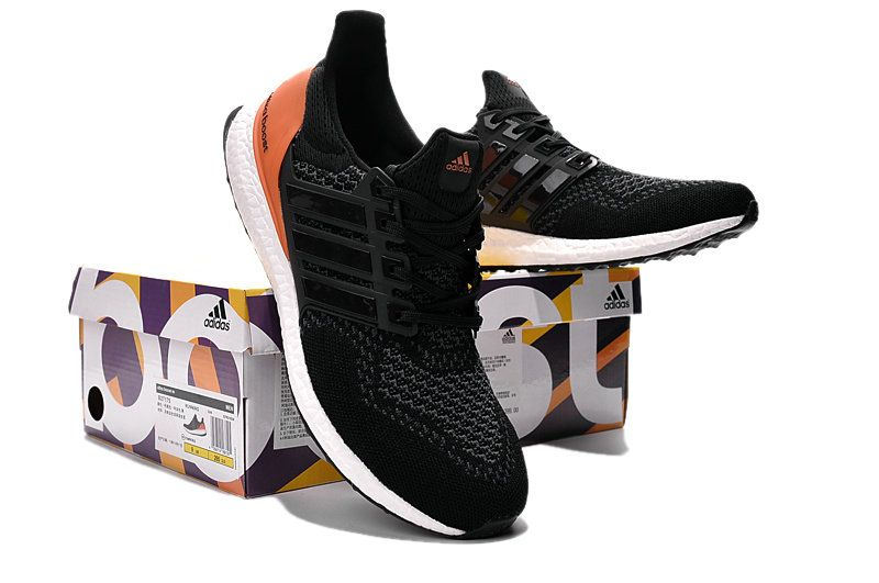 57db091a07e5 ... norway 2018 purchase adidas ultra boost 2015 2016 primeknit black noir  orange youth big boys sneakers