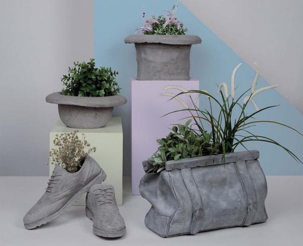 Moderne und kreative Gartenideen für Pflanzekübel aus Beton