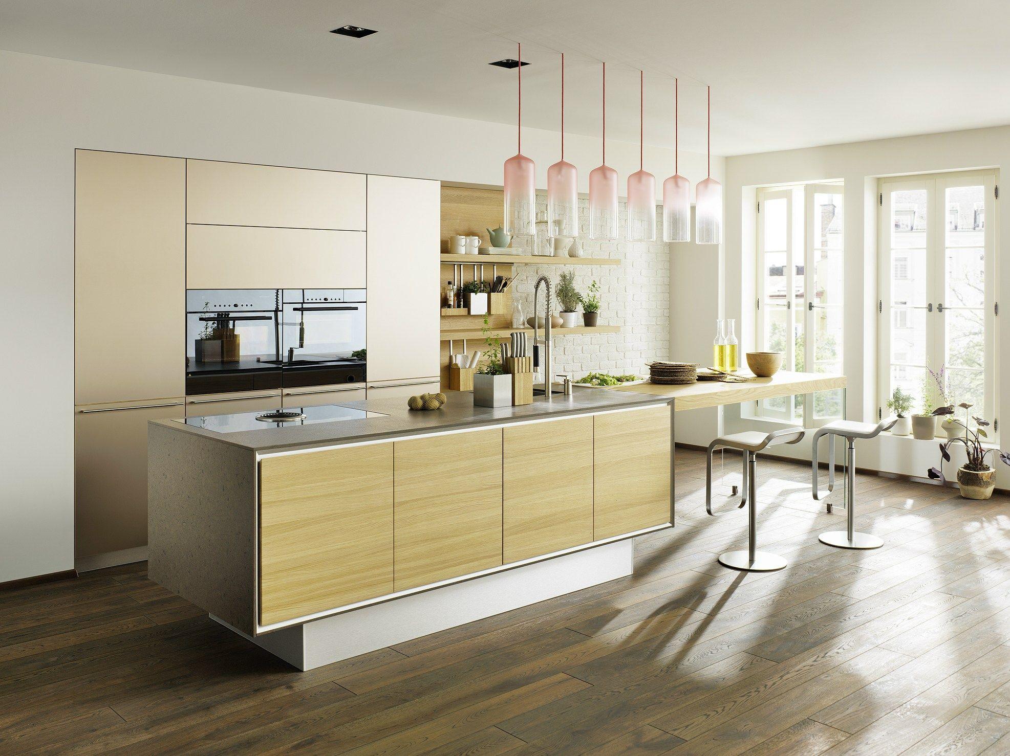 Solid wood kitchen with island vao by team natürlich wohnen design