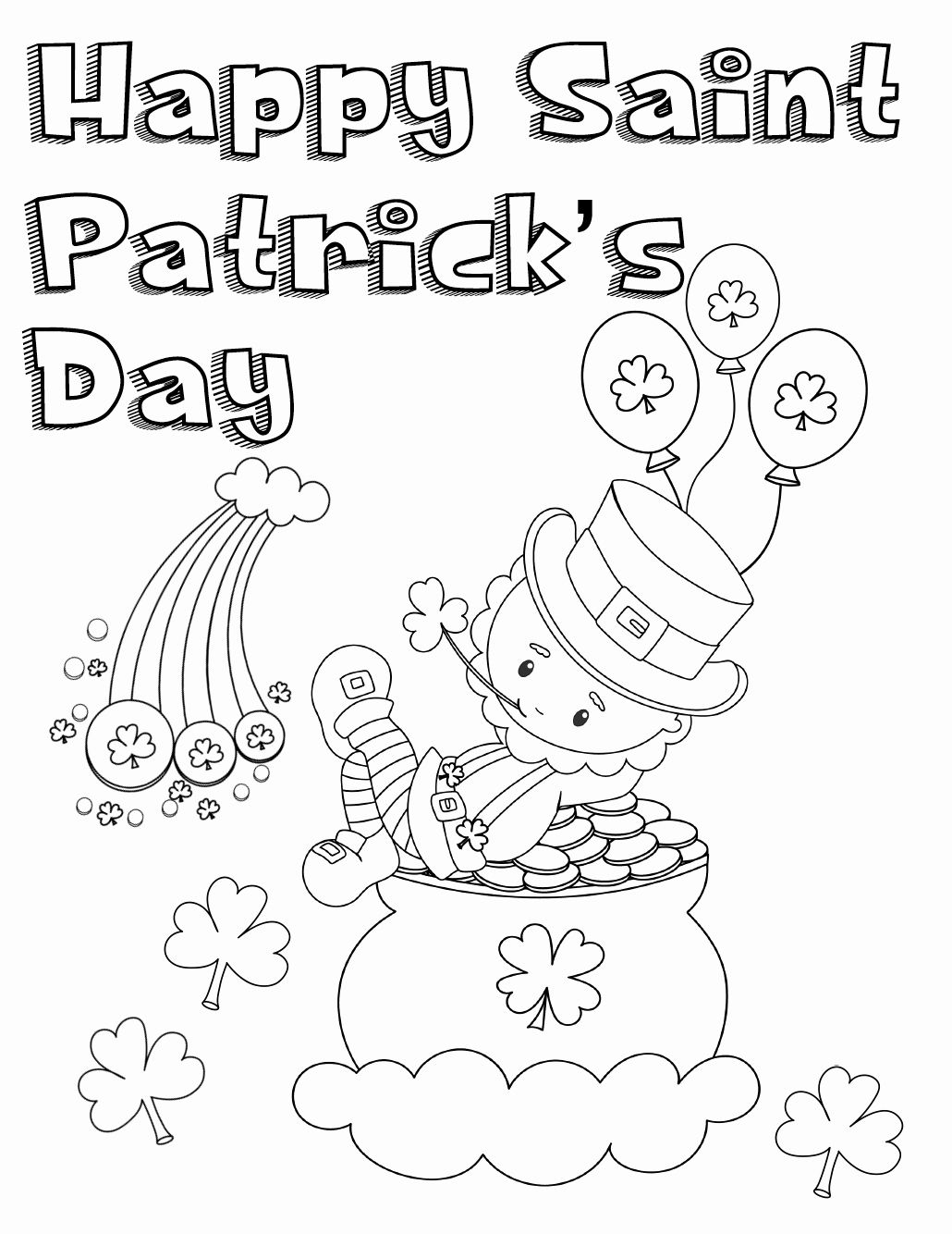 Saint Patrick Printable Coloring Pages Best Of Free Printable St Patrick S Day Coloring Pages 4 Designs