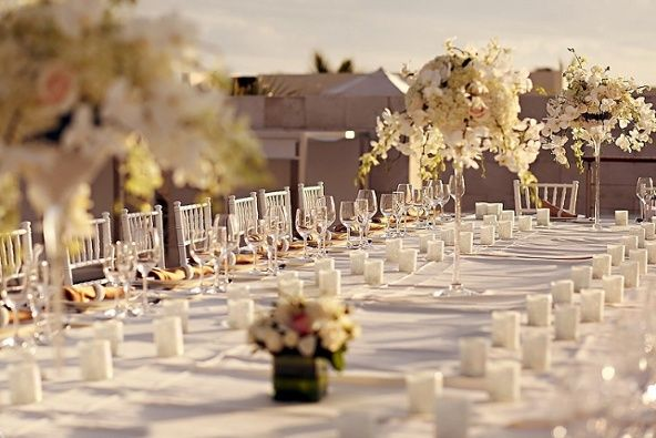 We love a banquet-style #reception!