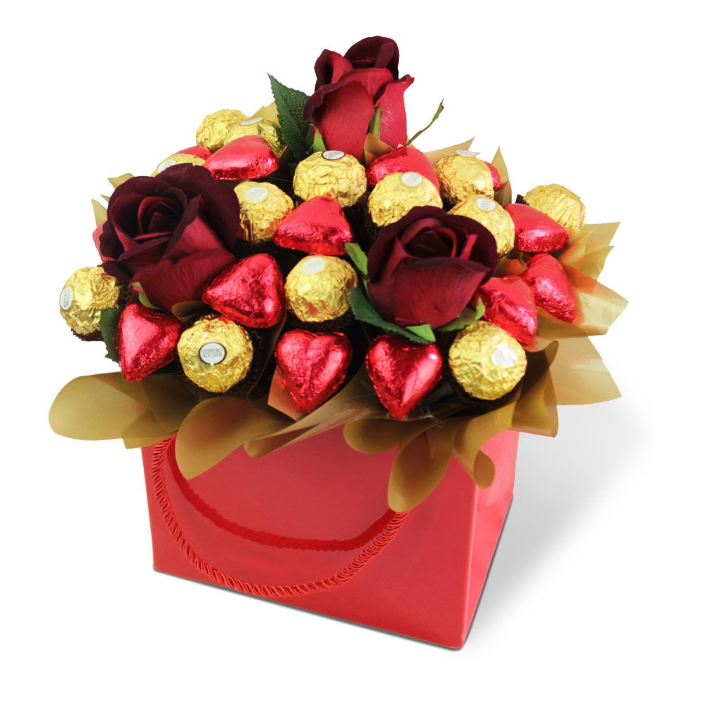 Ferrero rocher hearts and roses delicious buds chocolate chocolate bouquets in sydney chocolate hampers chocolates delivered izmirmasajfo