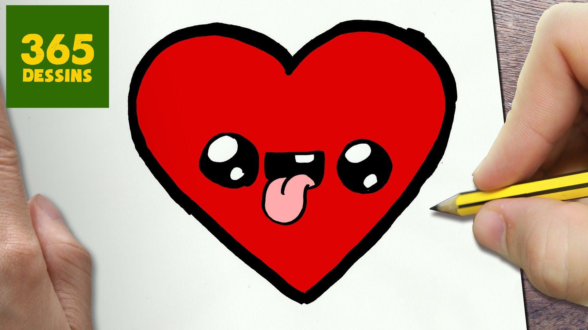 Comment Dessiner Cœur Kawaii Etape Par Etape Dessins Kawaii Dessin Kawaii Dessin De Coeur Dessin Pere Noel