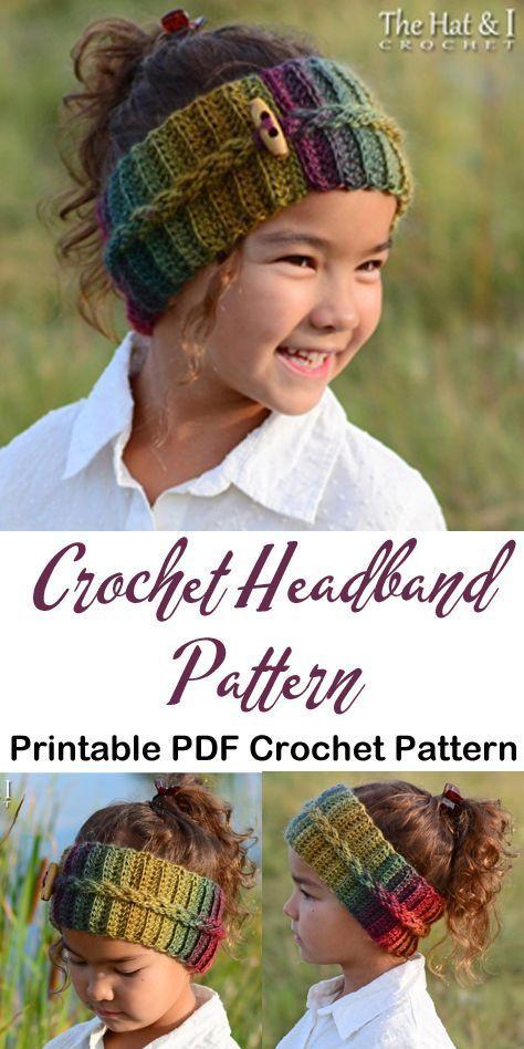 Make a cozy ear warmer. headband crochet pattern- ear warmer crochet pattern pdf - amorecraftylife.com #crochet #crochetpattern