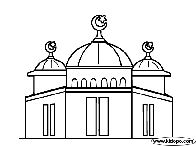 Mosque Coloring Page P | color me badd | Mosque, Color ...