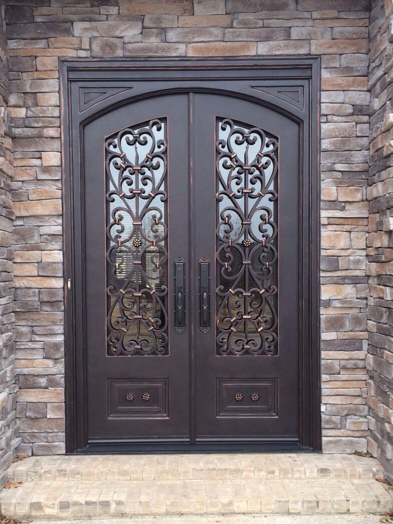 Arched Top Door In Square Frame Arched Doors Exterior