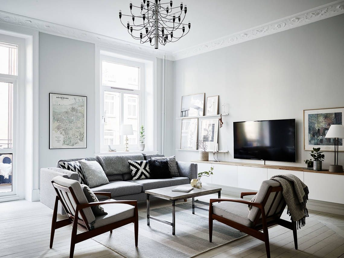 Scandinavian living room // GREY WALLS // | HomeSweetHeavenlyHome ...