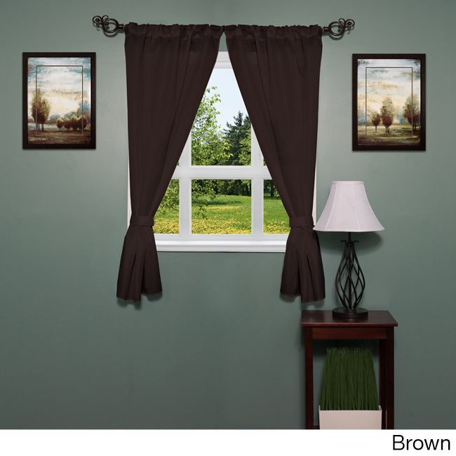 Finish Your Bathroom Decor With This Pair Of Window Curtain Panels - Water resistant bathroom window curtains for bathroom decor ideas