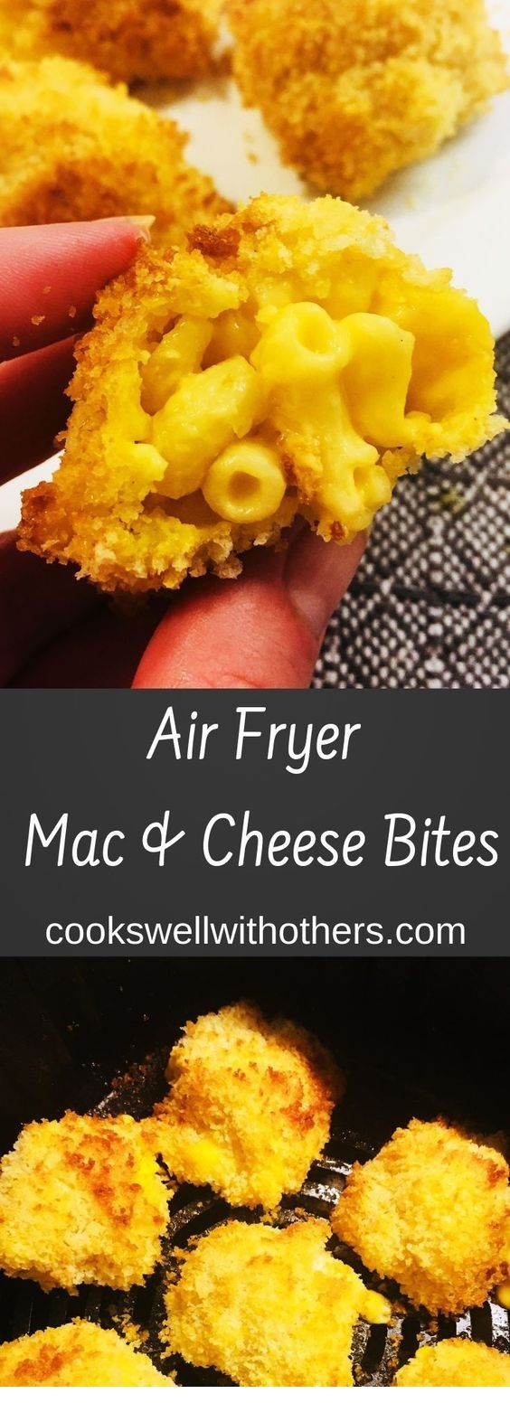 Air Fryer Mac And Cheese Bites | Air Fryer Recipes #airfryerrecipes