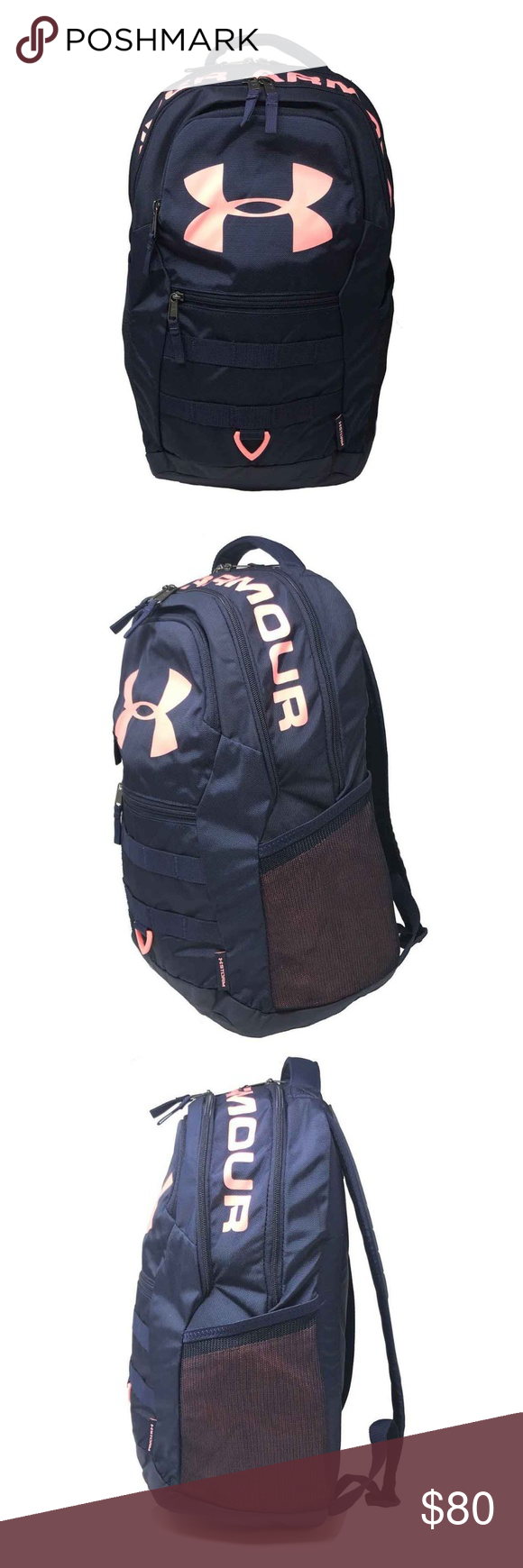 Under Armour Unisex Big Logo 5.0 BackPack Under Armour Unisex Big Logo 5.0  BackPack Strom Water Resistant Color Navy Coral Item  273428066268 100%  Authentic ... 53cdfe6795