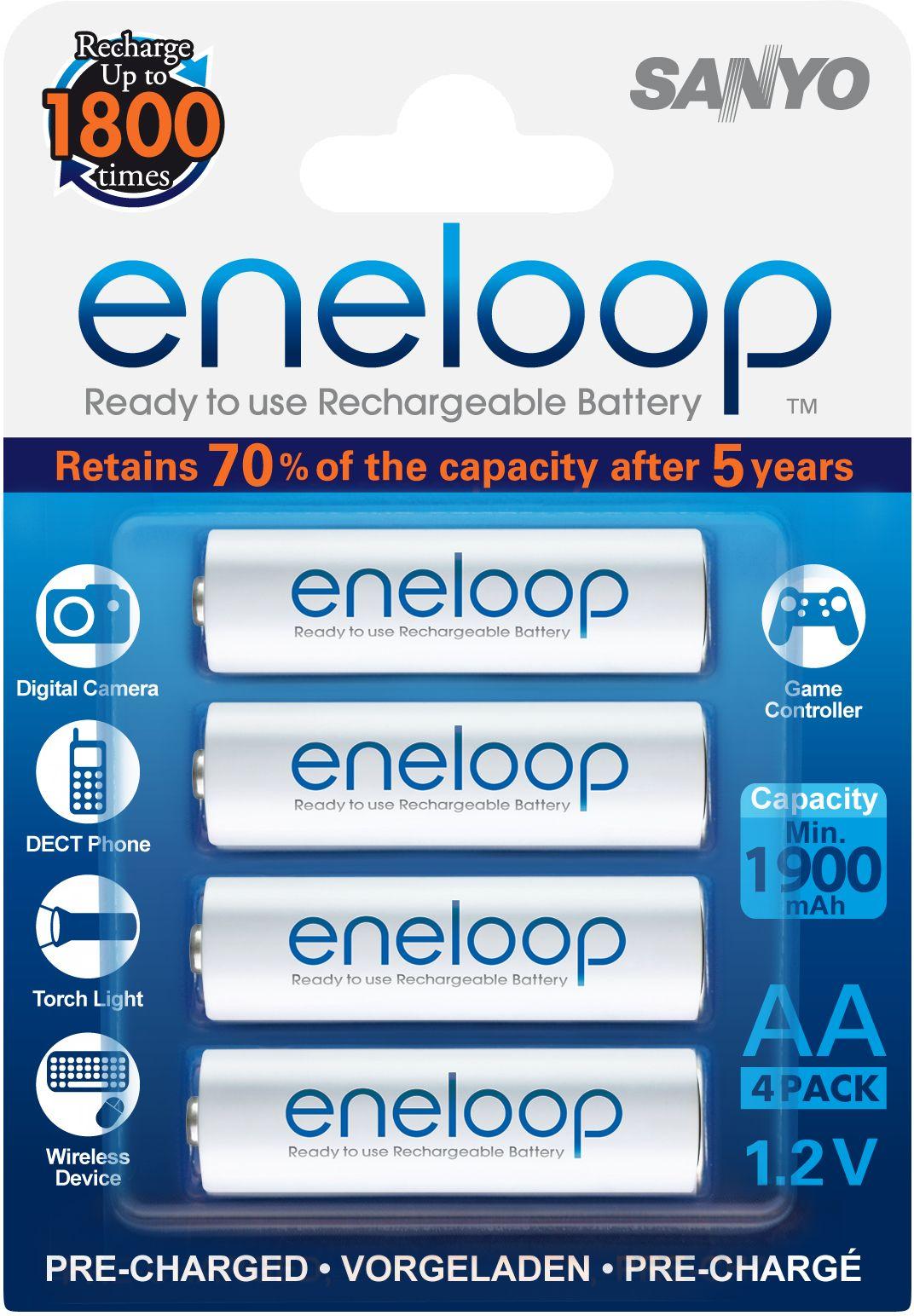 Sanyo Aa Eneloop Rechargeable Batteries Sanyo Recharge