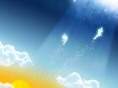 Angels in The Sky PPT Backgrounds Miscellaneous Backgrounds - christmas powerpoint template
