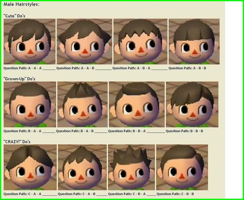 Animal Crossing City Folk Hairstyles 6096 Newest Animal Crossing Hair Guide New Leaf Animal Crossing Hair Animal Crossing Hair Guide Animal Crossing