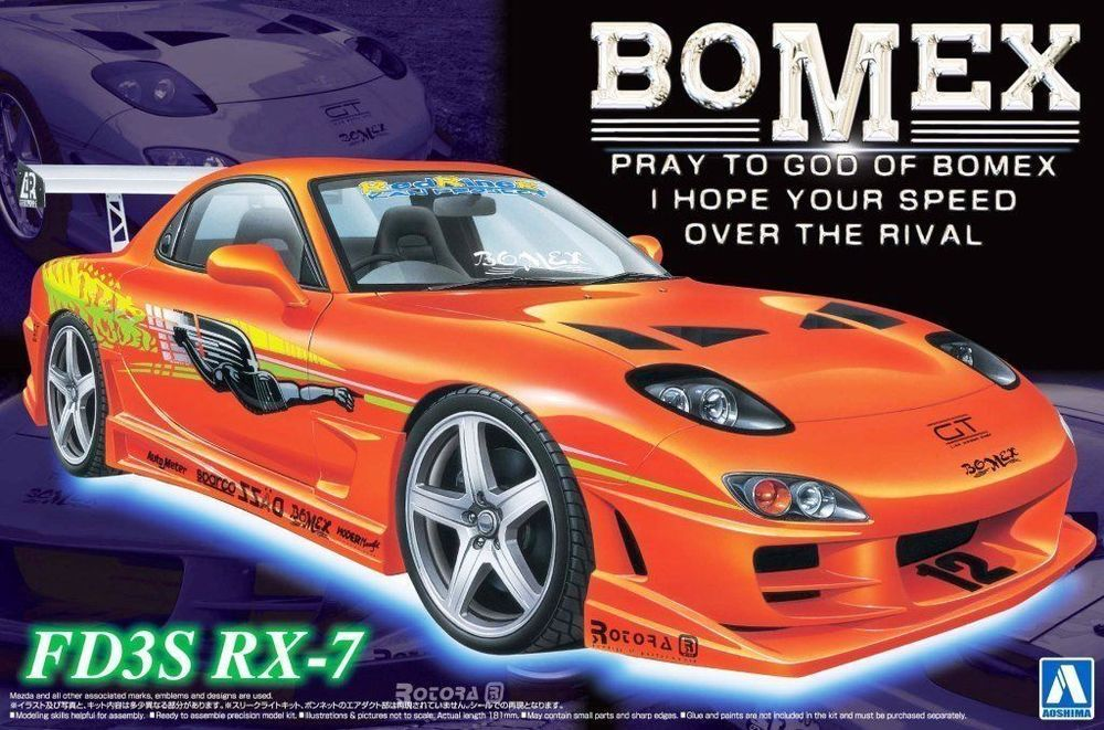 Aoshima 05866 1 24 Mazda Rx 7 Fd3s Bomex Limited Ver From Japan Very Rare Aoshima Mazda Rx7 Mazda Revell Model Cars