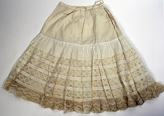 Wedding lingerie  Date: 1904   Culture: American   Medium: linen, cotton, silk #wedding #lingerie