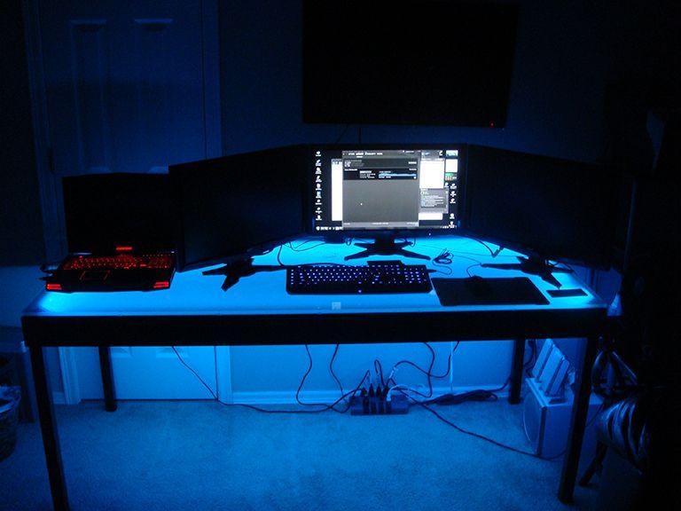 Computer Desk LED Lighting using an easy installation LED kit - // & Computer Desk LED Lighting using an easy installation LED kit ... azcodes.com