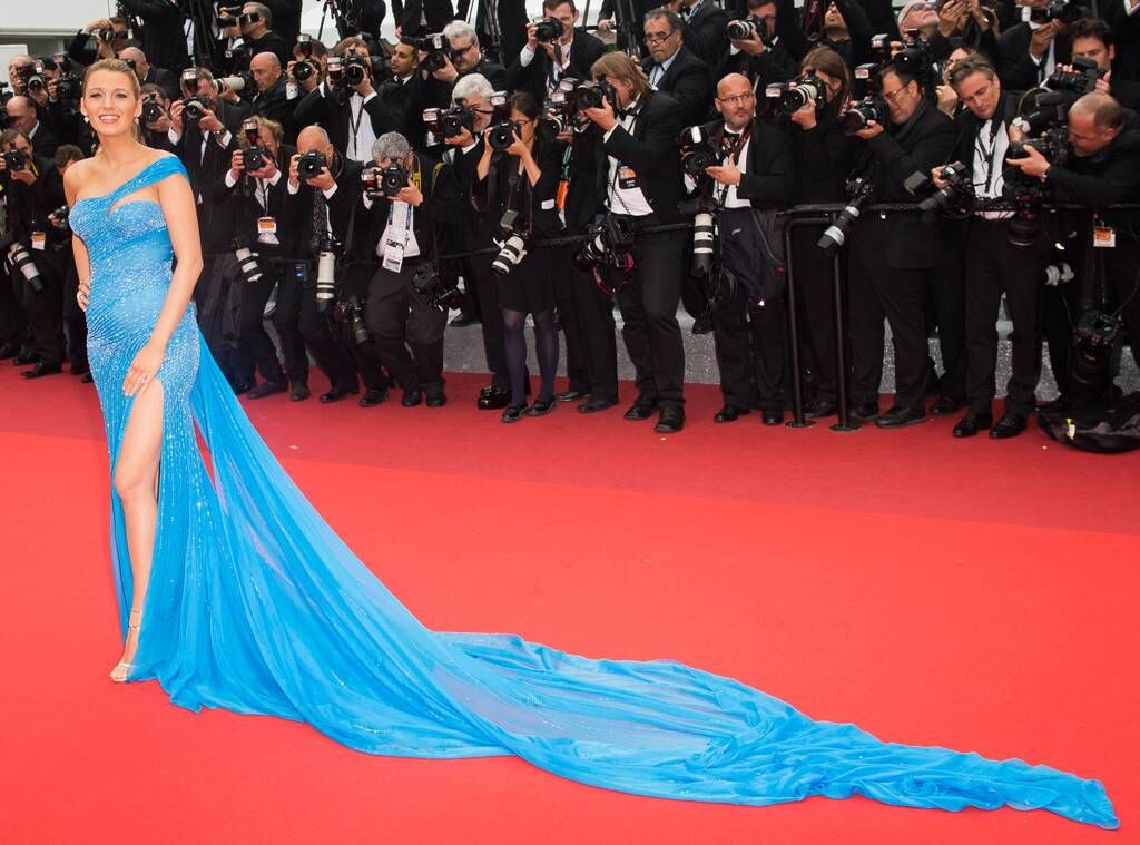 Blake Lively From Best Fashion Moments Of The Decade Royal Blues The A Simple Favor Actress Looks Like A Modern Day Cindere Fashion Blake Lively Sparkly Gown