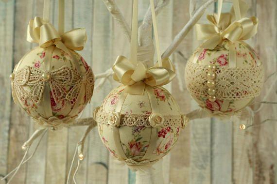 Shabby Chic Natale : Shabby chic christmas decorations handmade christmas shabbychic