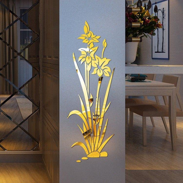 Flowers, acrylic wall sticker