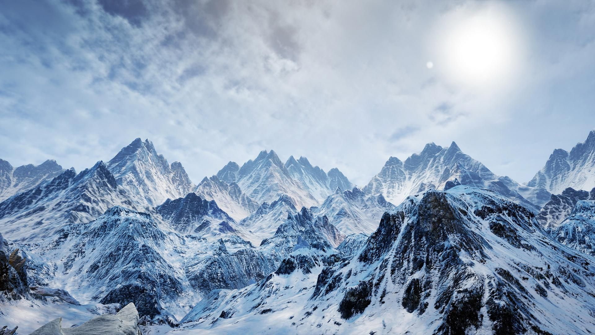 Ice and Snow Mountains Background | nature | Pinterest ...