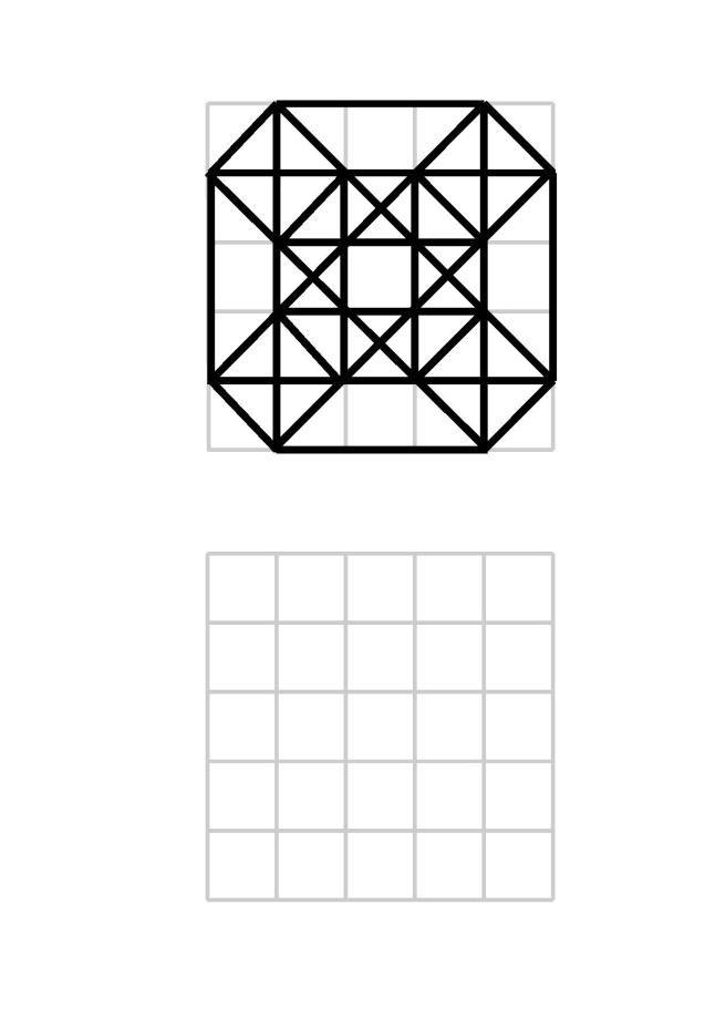 Muster im 5×5-Raster Geometrische zeichnung Mandala
