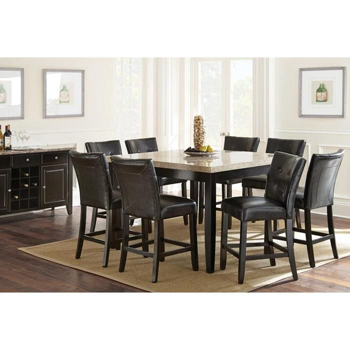 Nice Monarch 7 Piece Dining Set In Black | Nebraska Furniture Mart