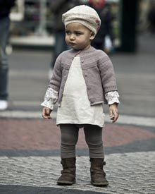 If I ever have a girl, this is basically what she will wear. Every day. Little knits. I can't even stand it.   Mon Marcel