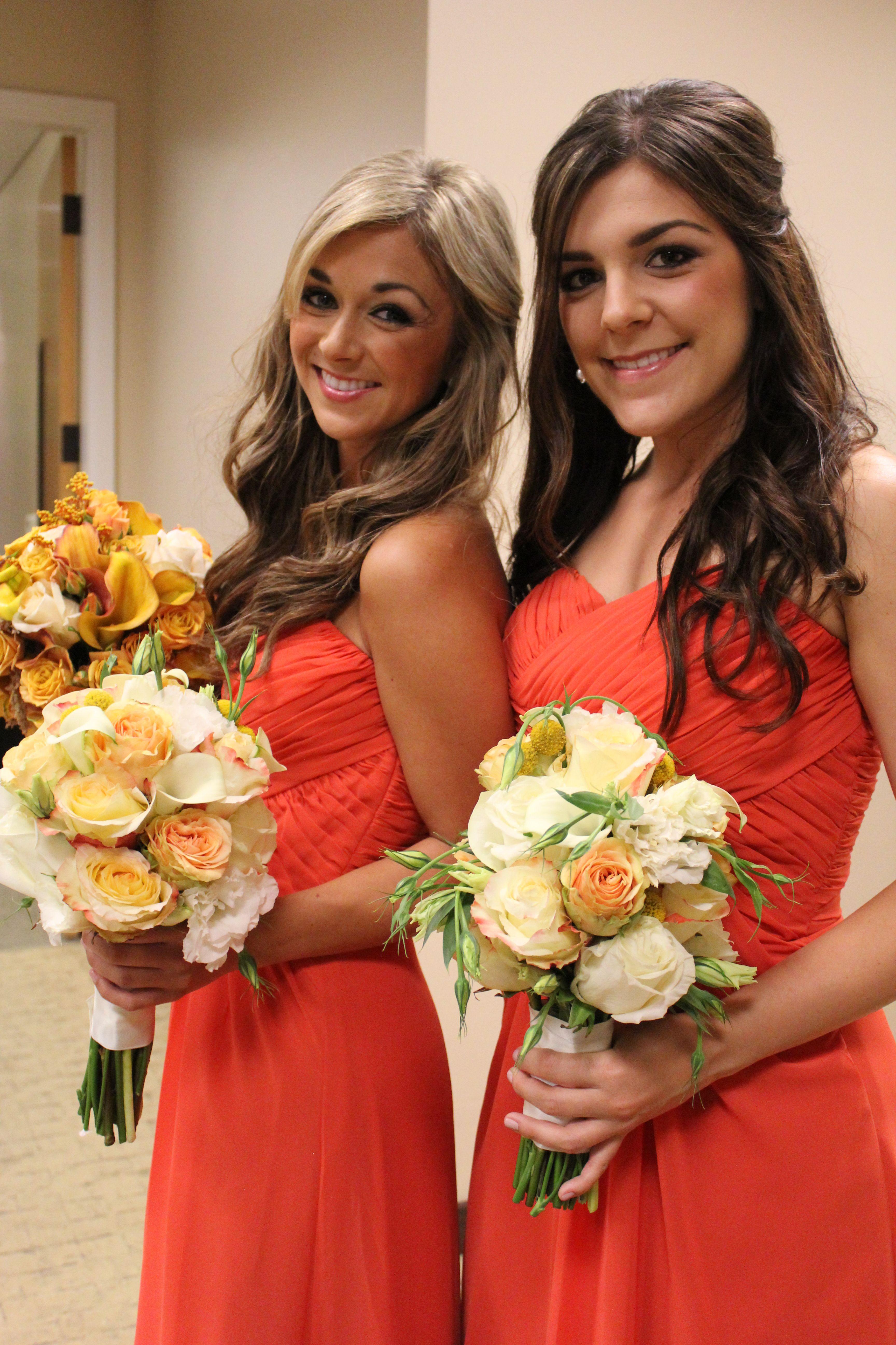Dublin ranch golf course wedding bridesmaids soft orange and bridesmaid ombrellifo Choice Image