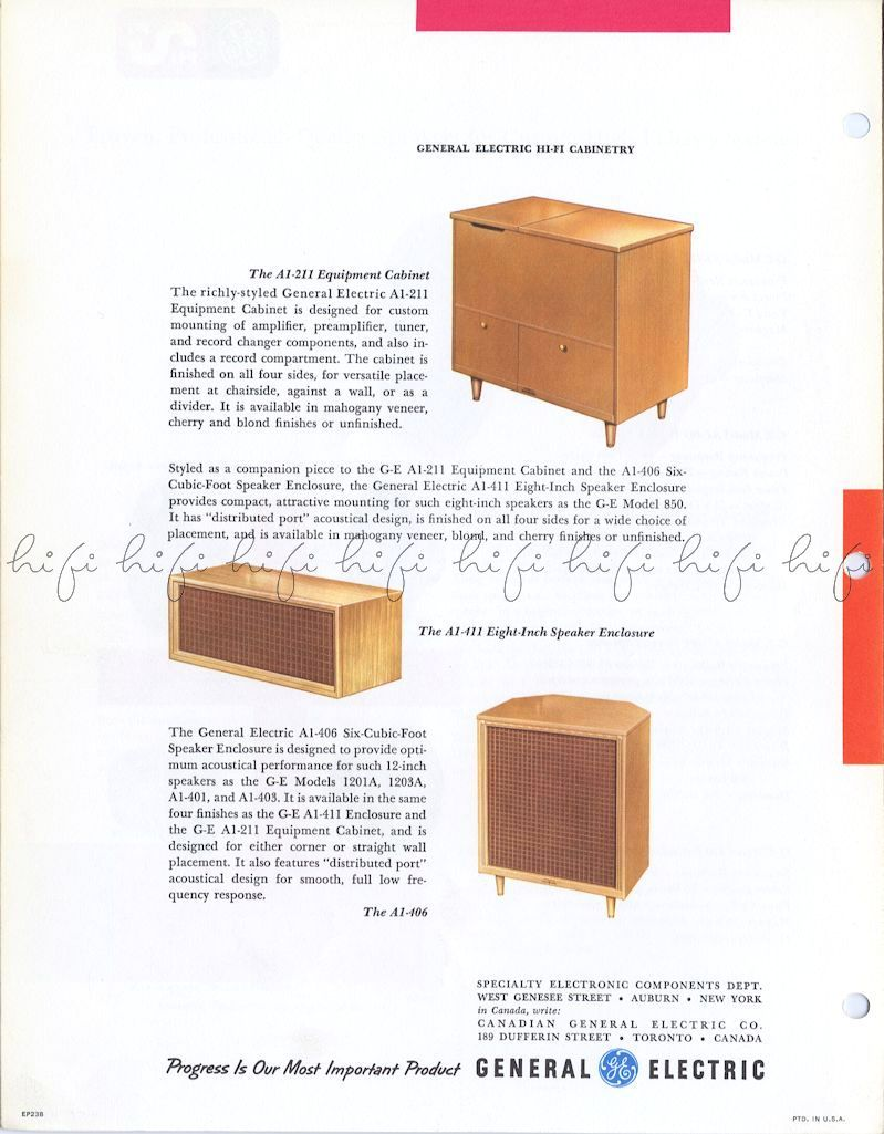 Page 4  General Electric High Frequency Tweeter Audio