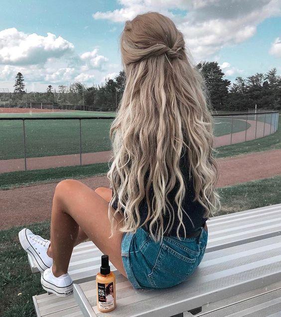 54 Niedliche und einfache lange Frisuren für die Schule für Herbst und Winter #coiffure