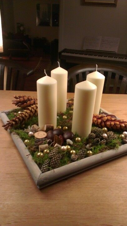 Adventskranz mal anders... adventi Pinterest Deko weihnachten