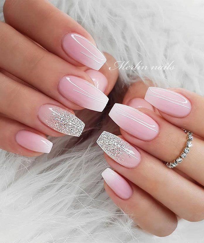 The Most Stunning Wedding Nail Art Designs For A Real Wow Blush Pink Nails Bridal Nails Designs Bride Nails