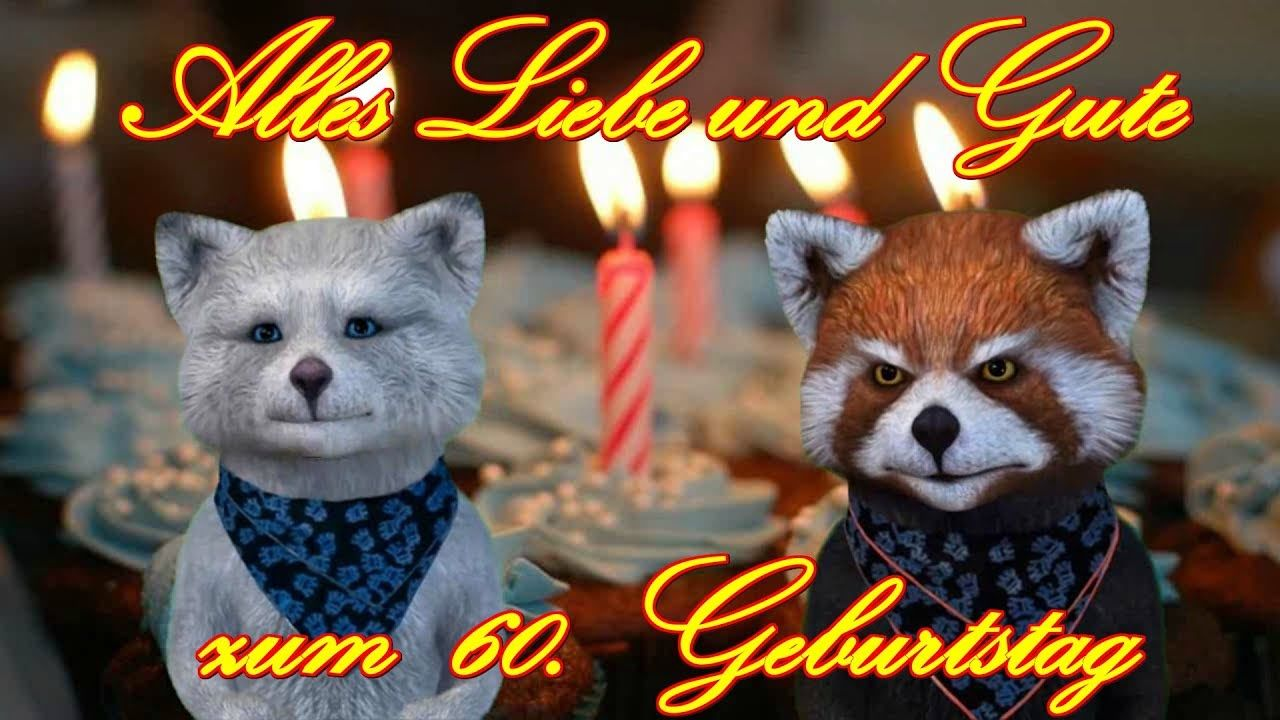 Alles Liebe & Gute zum 60. Geburtstag  Happy Birthday to You  FACERIG YouTube Video Gruß