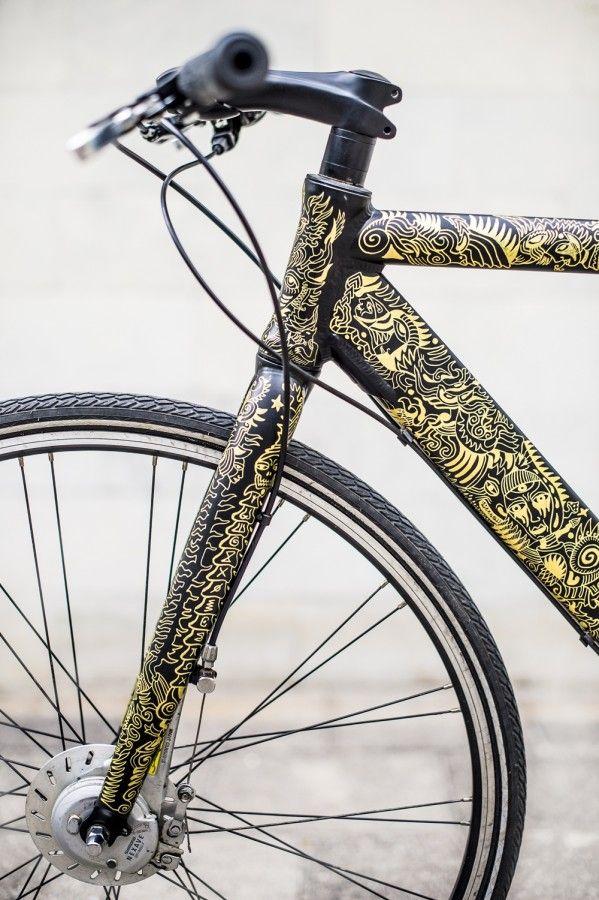 http://wickedwheels.eu/hand-painted-bike-la-calavera-777 | Bike ...
