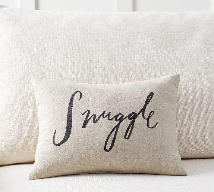 Snuggle Sentiment Pillow Pillows Bed Linen Design Bed