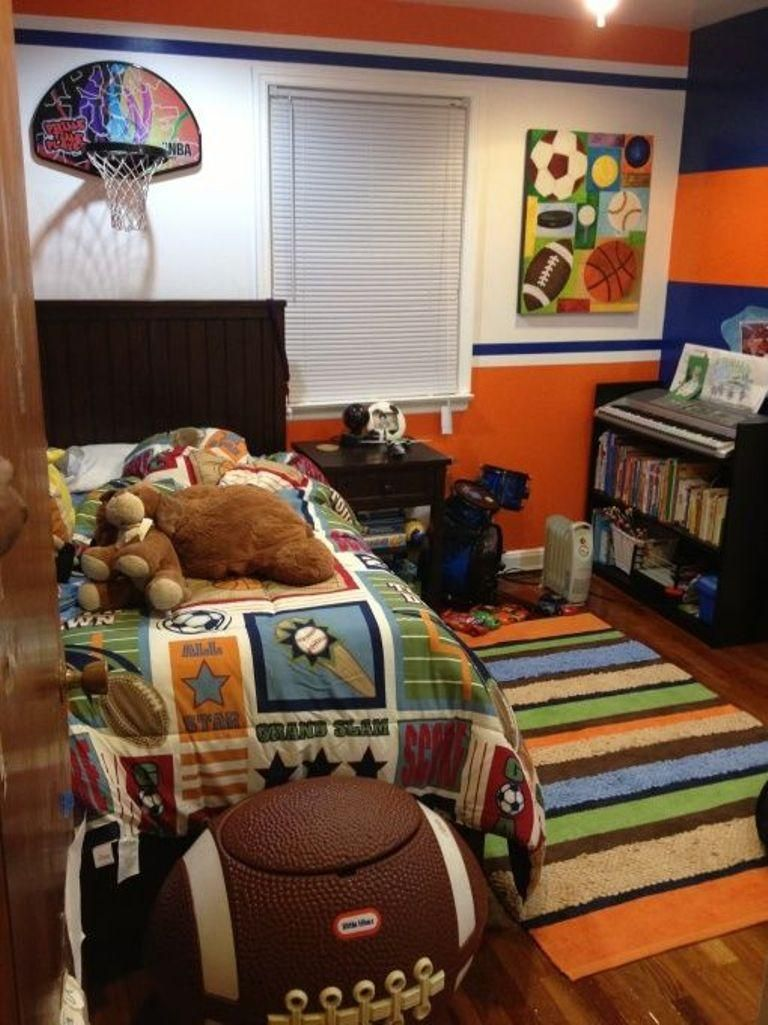 15 Sports Inspired Bedroom Ideas For Boys Sports Themed Bedroom Sport Bedroom Kids Sports Bedroom