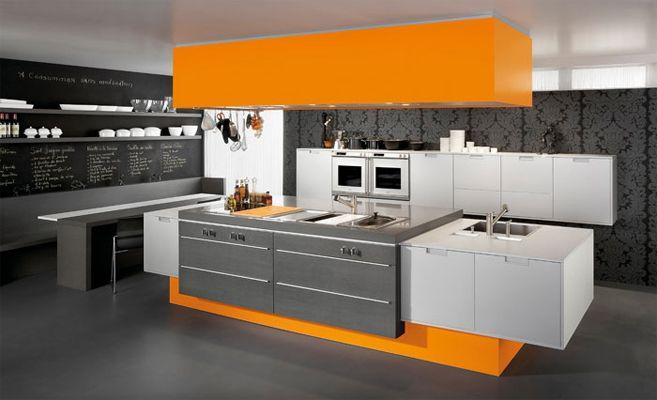 Cuisine moderne Nord : laqué, stratifié, mélaminé - meubles Lille ...