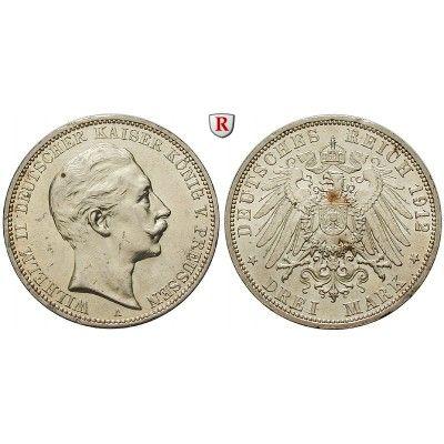 Deutsches Kaiserreich, Preussen, Wilhelm II., 3 Mark 1912