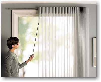Hunter Douglas Luminette Privacy Sheers With Traveling Wand Option Perfect For Sliding Glass Doors