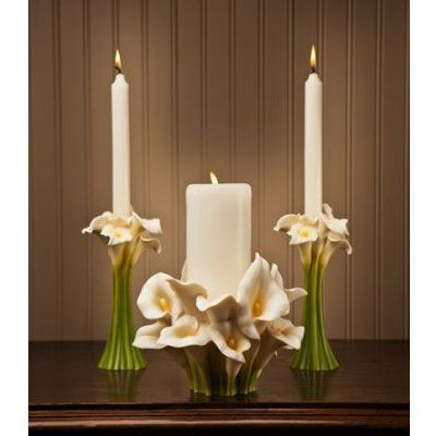 unity candle holder set calla lily