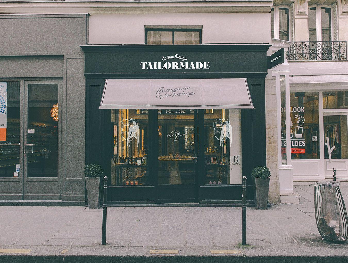5 Free Store Sign Mockups Inspirationfeed Restaurant Identity Branding Design Croque Monsieur