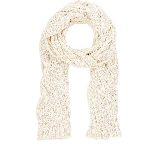 Womens Cable-Knit Scarf Barneys New York mZ2F0BJSA