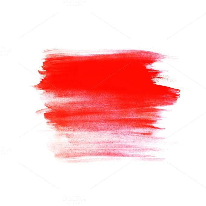 Red Grunge Brush Stroke Brush Background Brush Strokes Painting