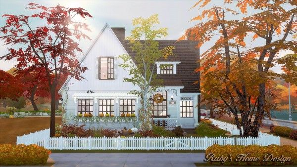 Ruby`s Home Design: Autumn Cottage U2022 Sims 4 Downloads