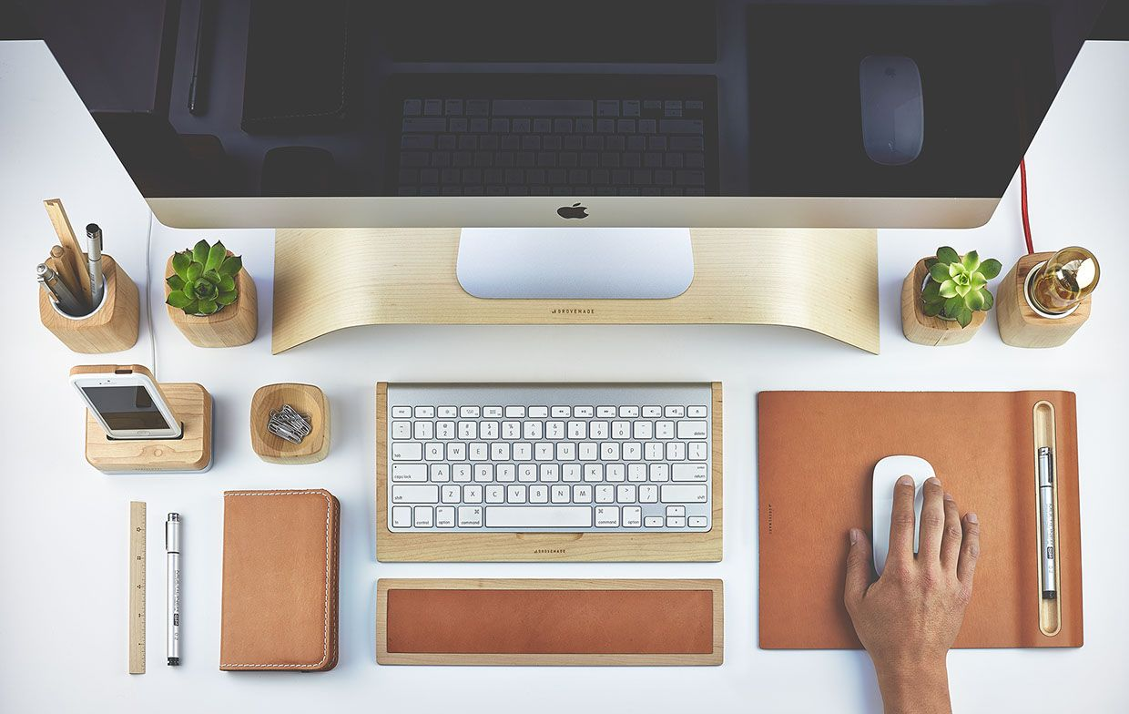 The Grovemade Desk Collection Leather Desk Accessories Desk