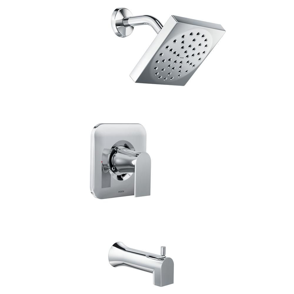 MOEN Genta Single-Handle 1-Spray Tub and Shower Faucet in Chrome ...