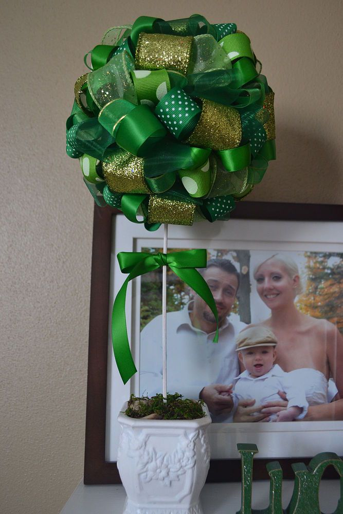 easy st patrick s day ribbon topiary in 2020 with images on simply wall street id=80821