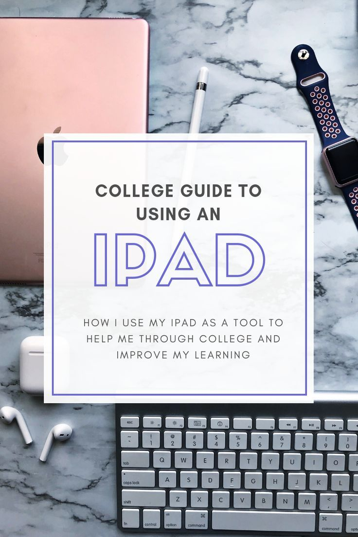 Your Guide To Using An iPad In College | Medicine and Moscato