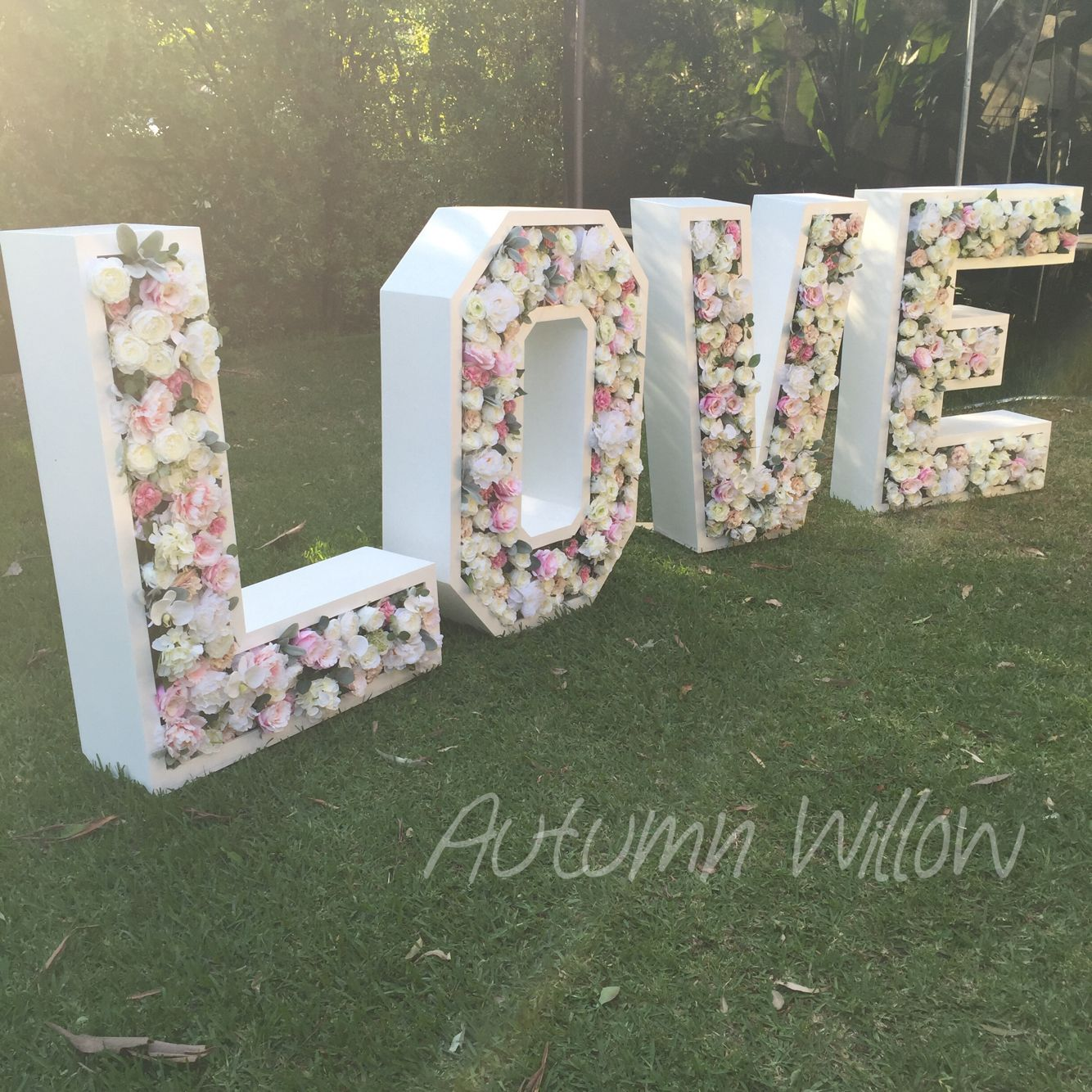 Our giant love letters are now ready to hire for all for Giant letters for wedding